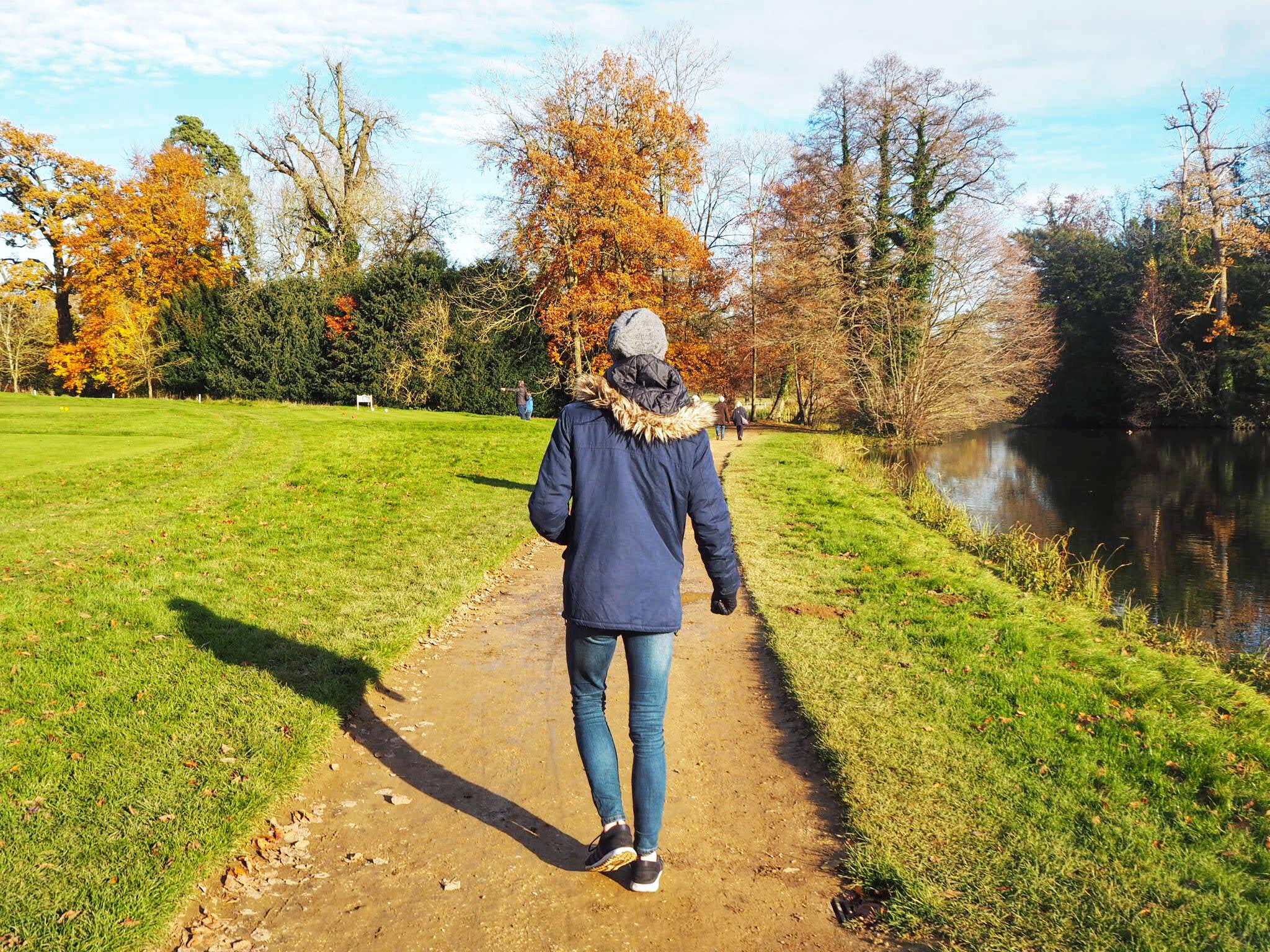 Jack walking at Stowe