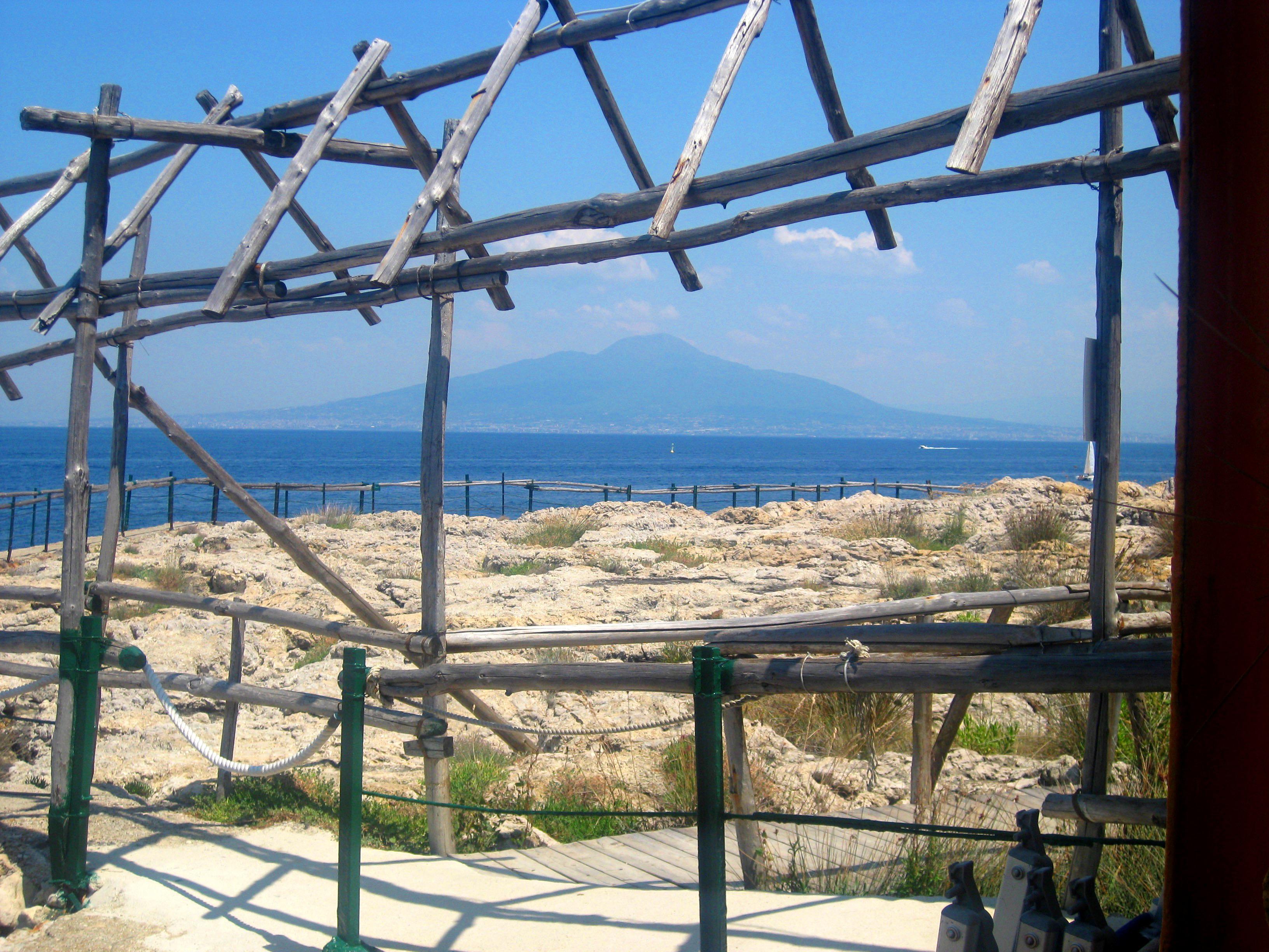 View of Mt Vesuvius over the Bay of Naples