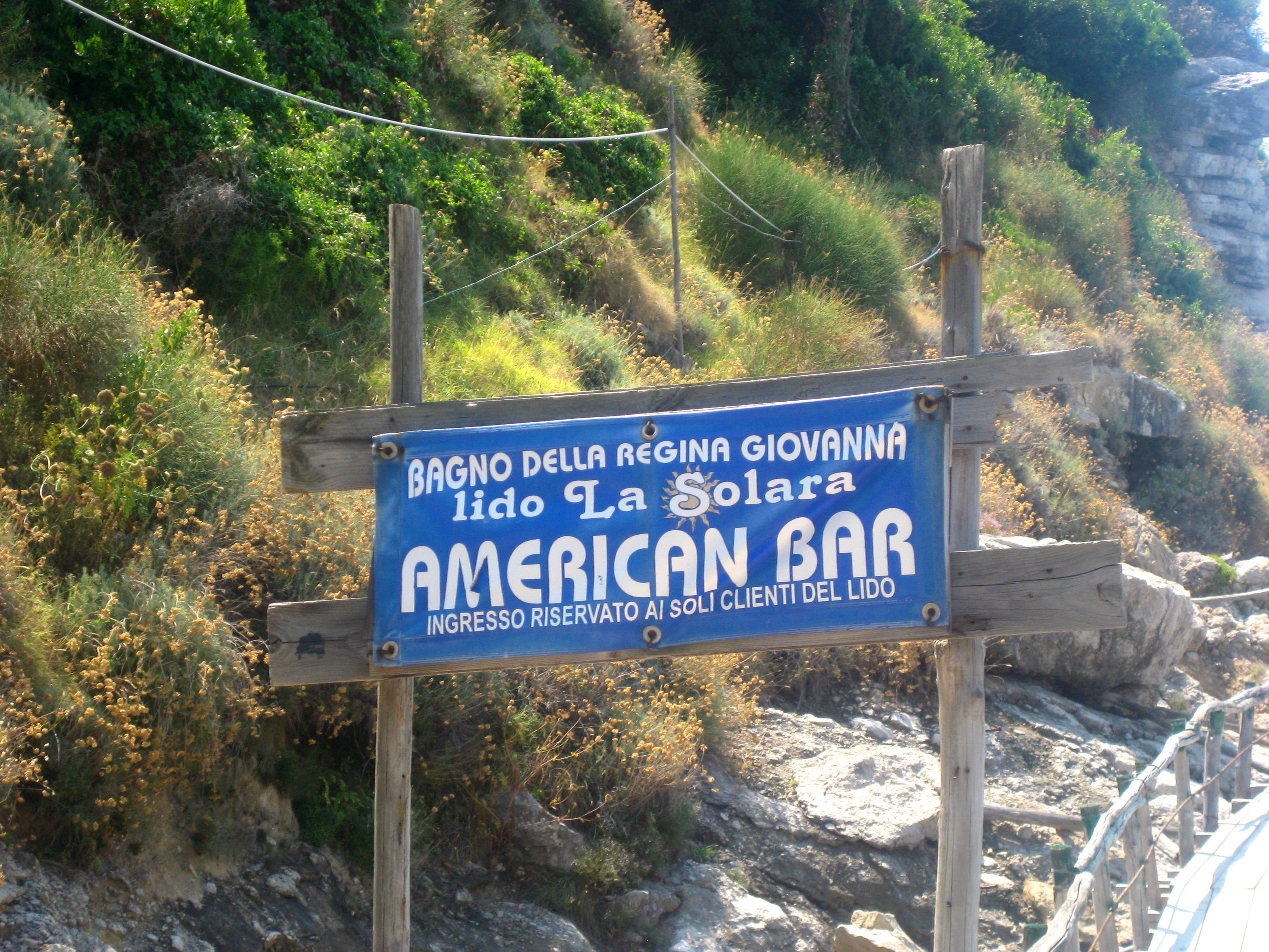 American Bar sign