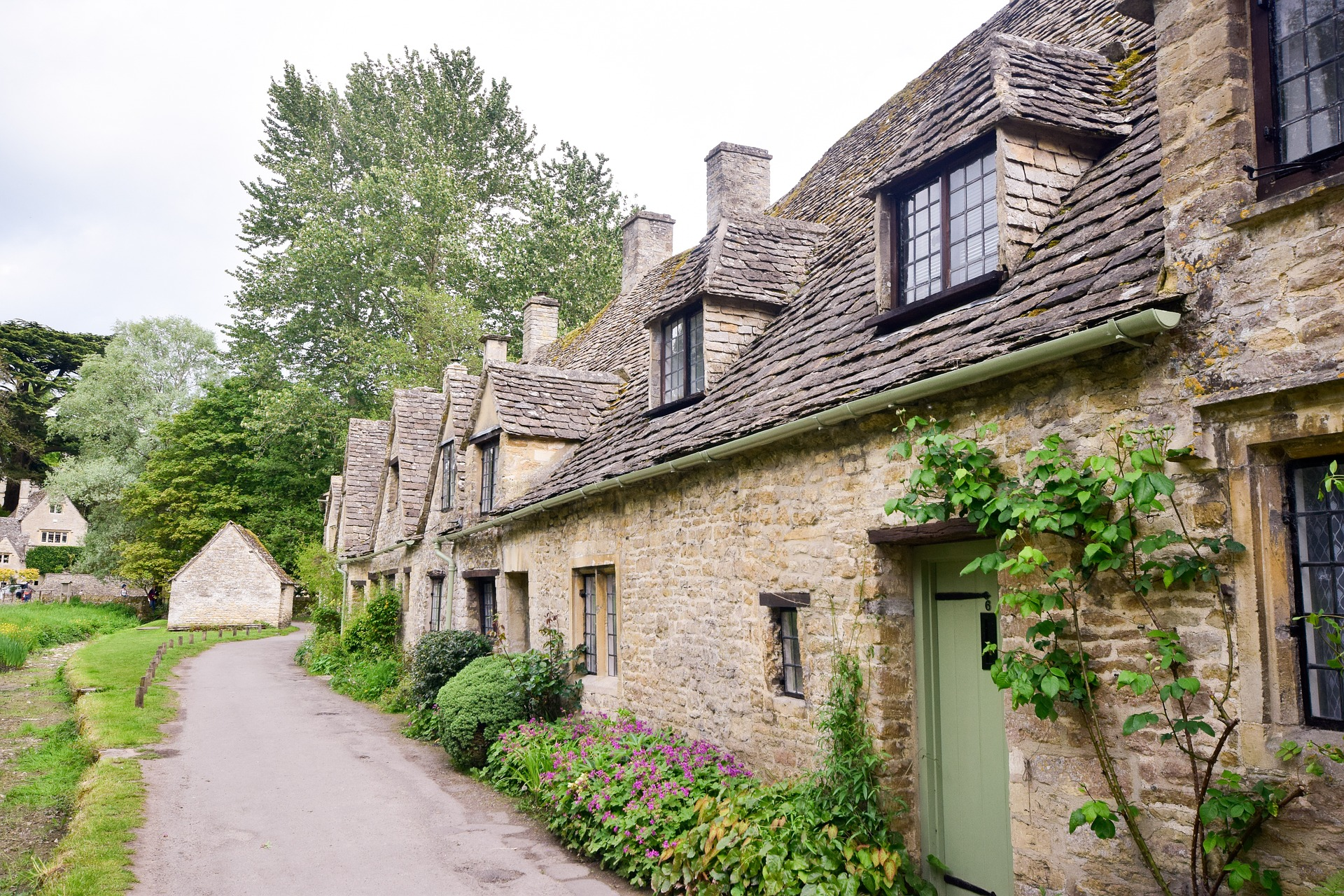 A row of houses in the Cotswolds
