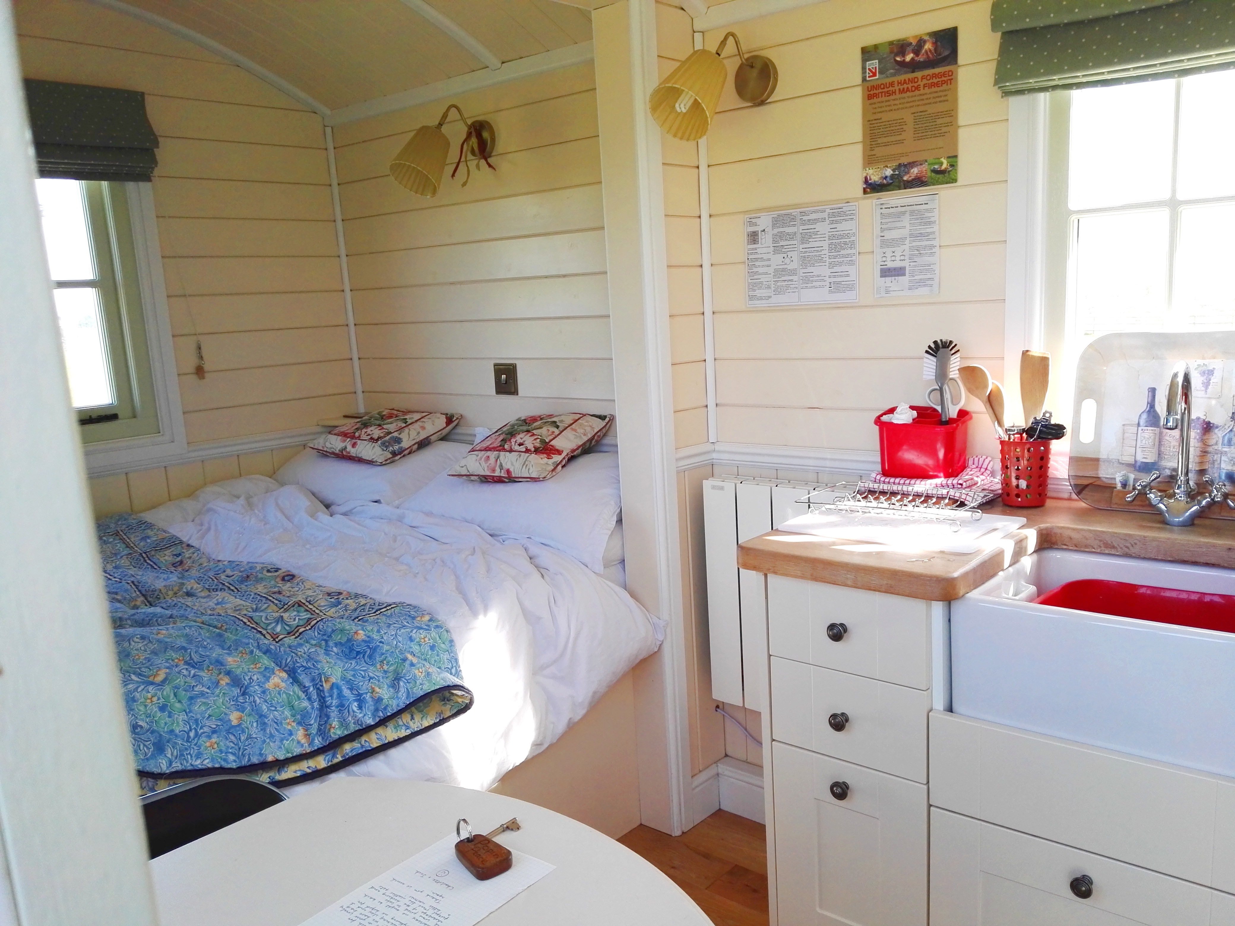 The bedroom of the hut