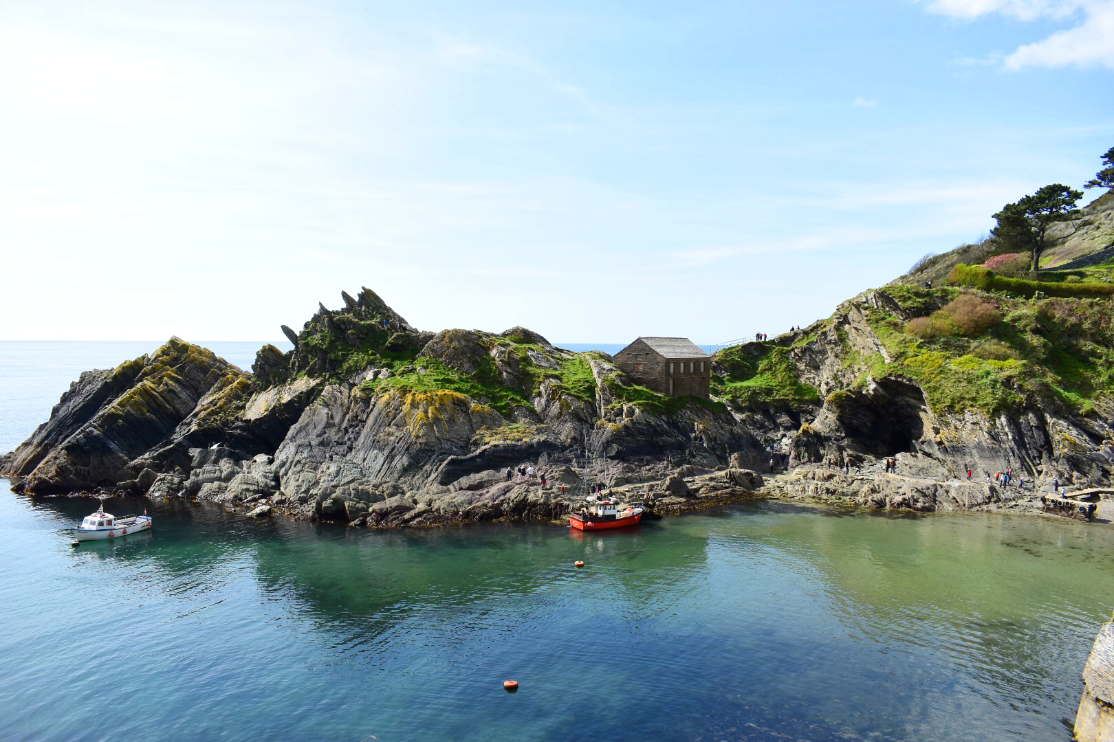 Rocky cliffs at Polperro
