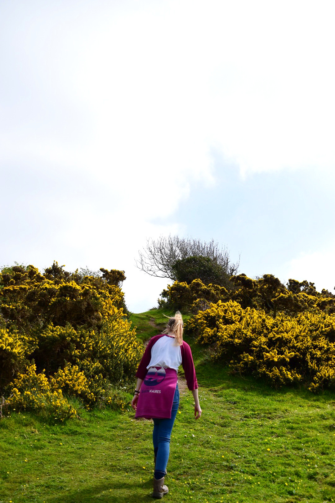 Heading up the South West Coast Path