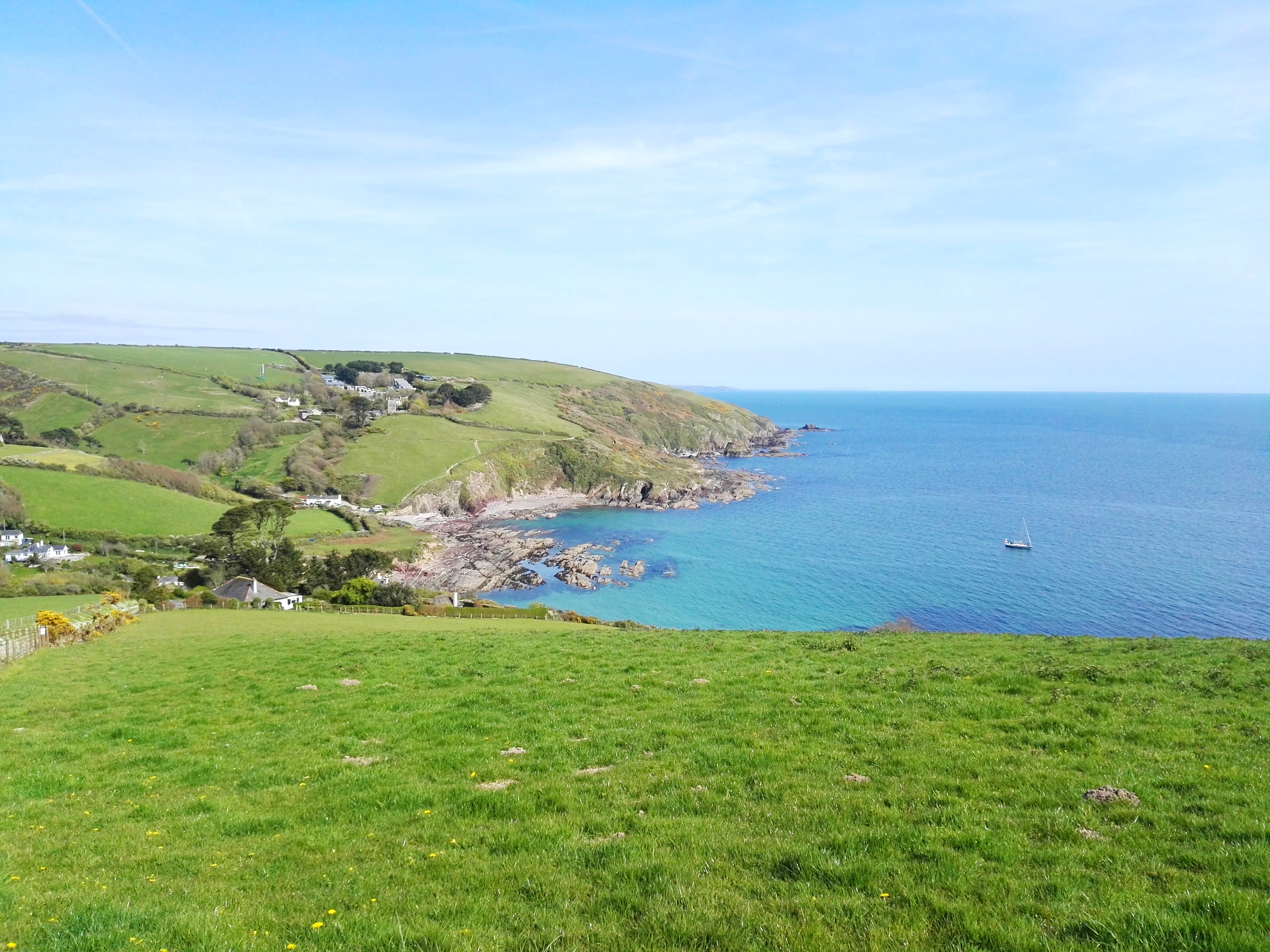 Looking back to Talland from the South West Coast Path