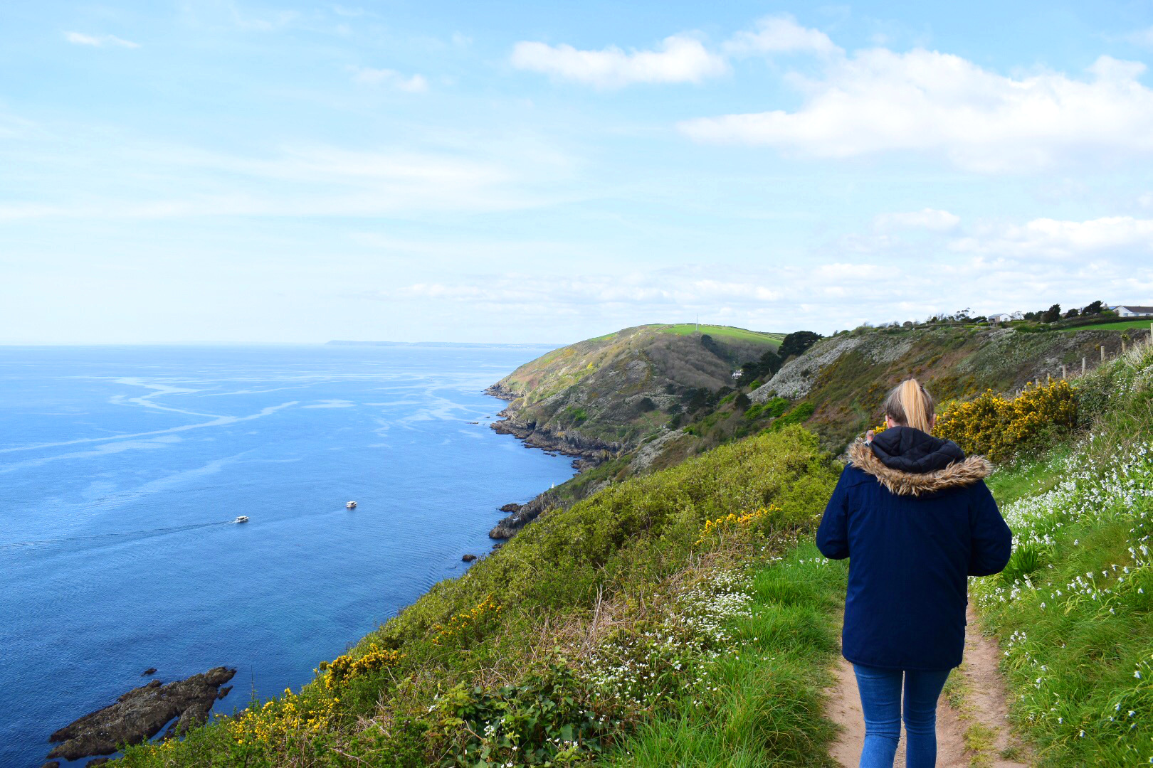 Heading along the South West Coast path to Polperro