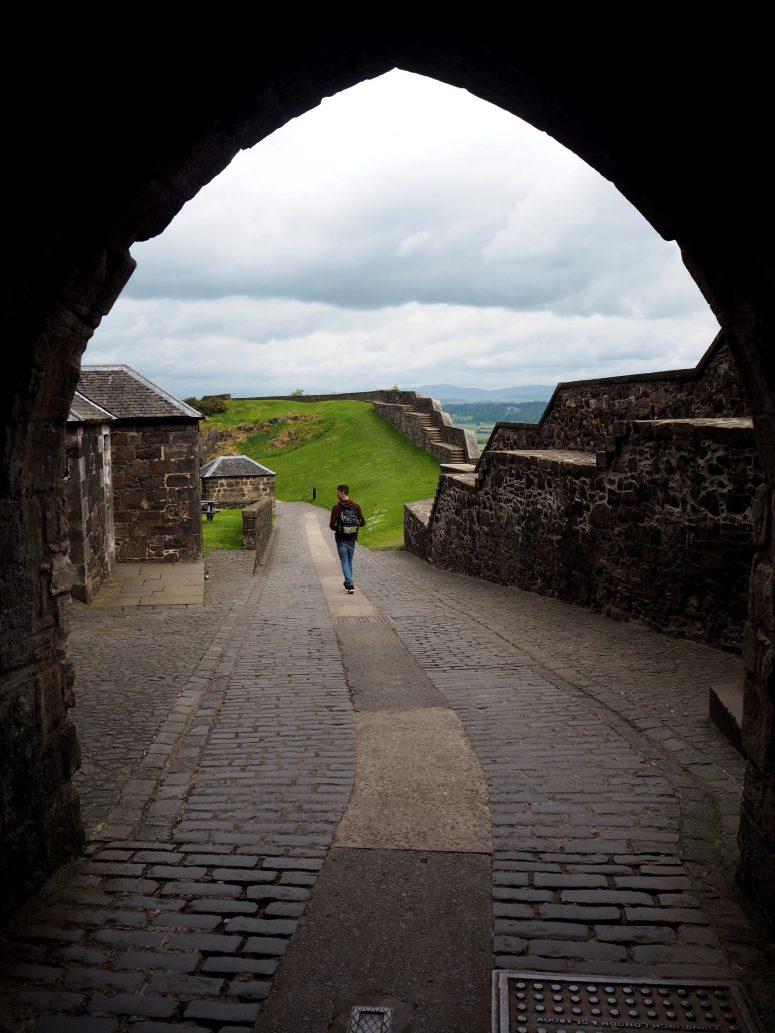 Jack at Stirling Castle