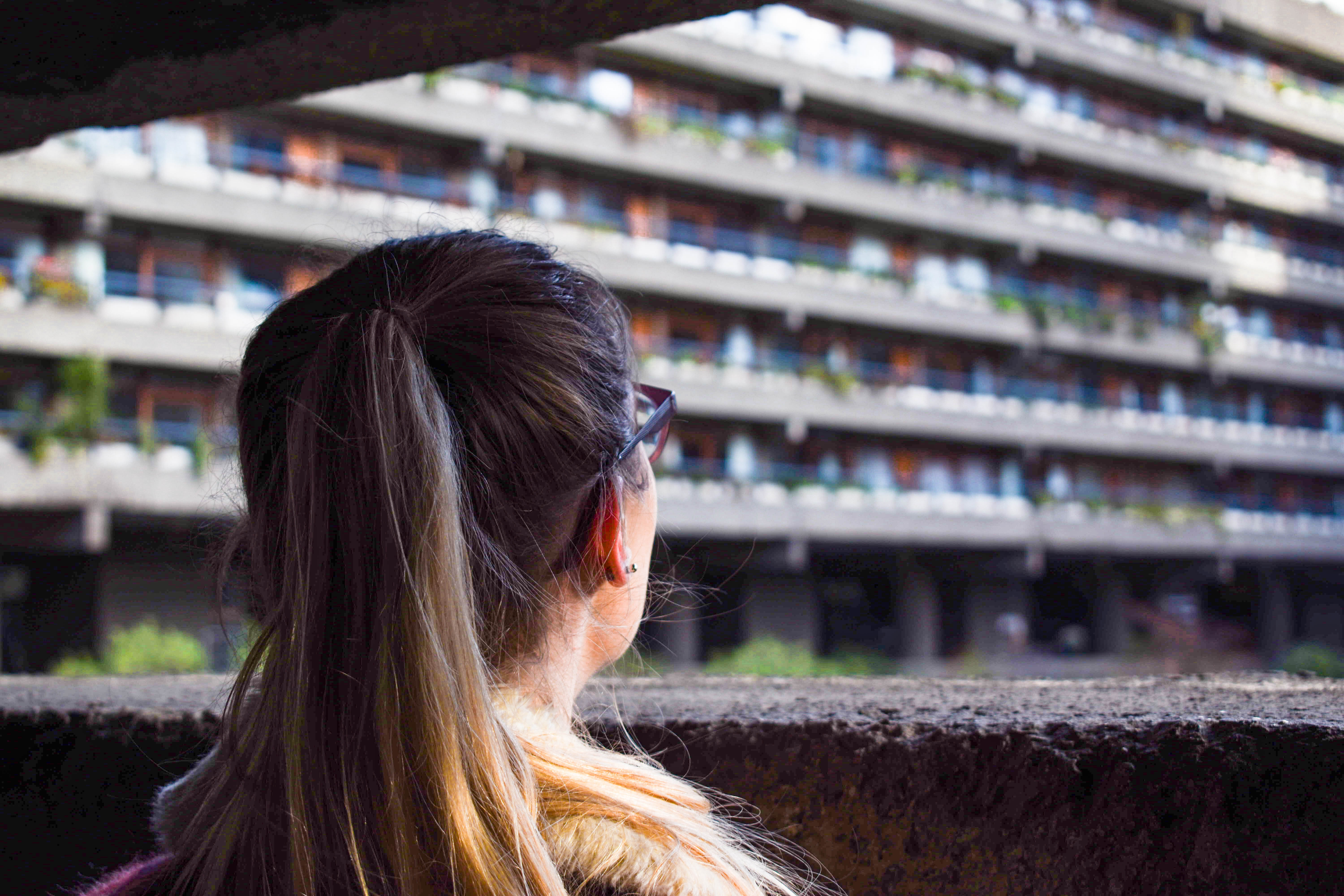 First look at the Barbican Estate over a wall